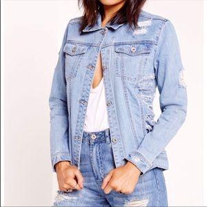 Jackets & Blazers - Stylish distressed denim jacket